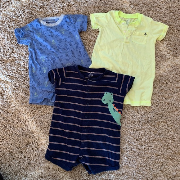 Carters- shorts rompers